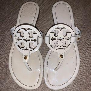 Tory Burch white sandals 8.5